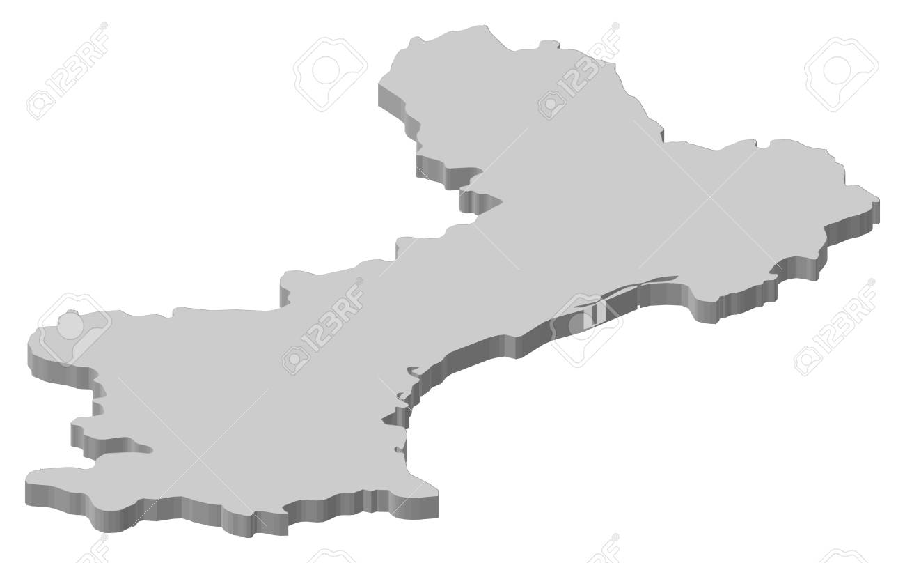 Roussillon France Map.Map Of Languedoc Roussillon A Province Of France Royalty Free