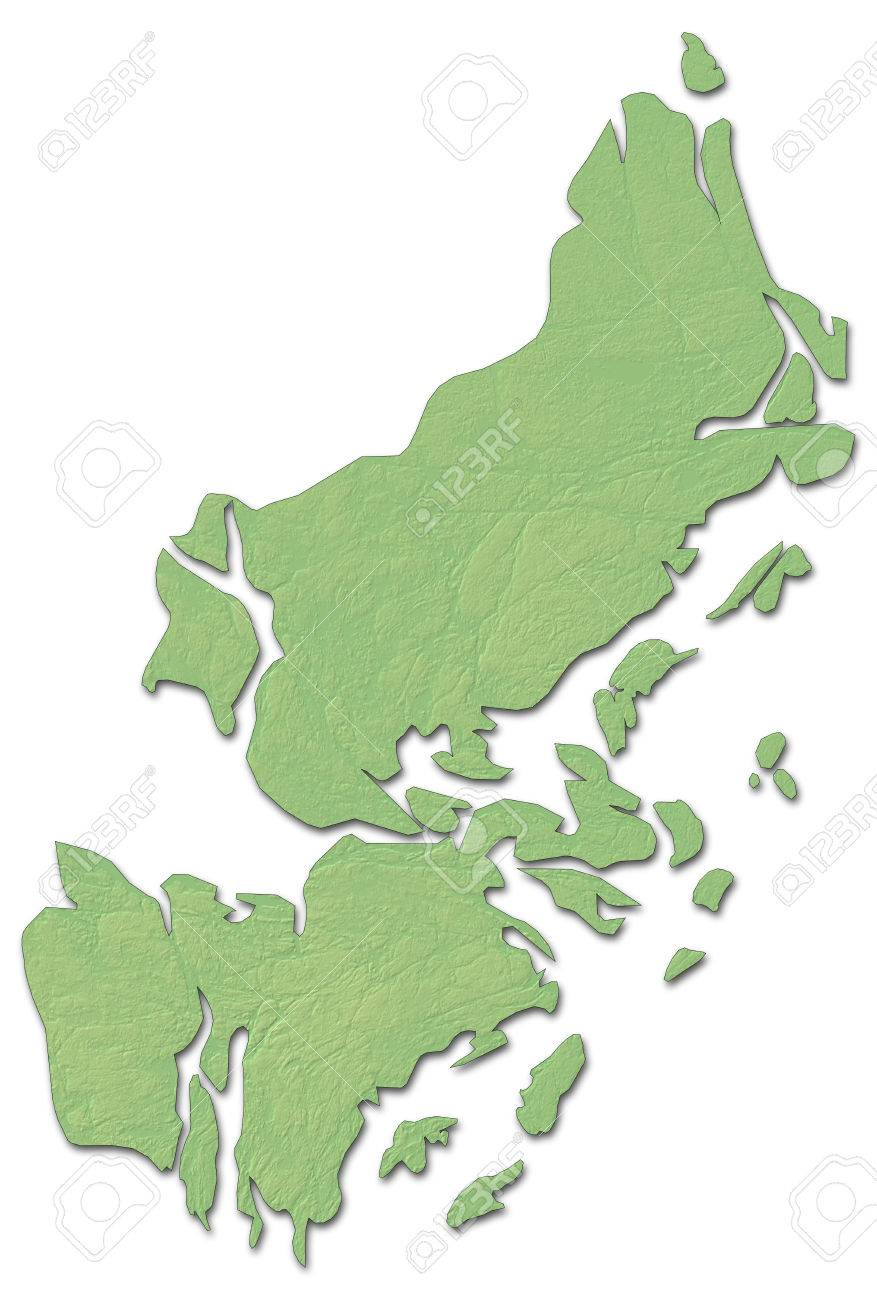 Relief Map Of Stockholm County A Province Of Sweden With Shaded - Sweden relief map
