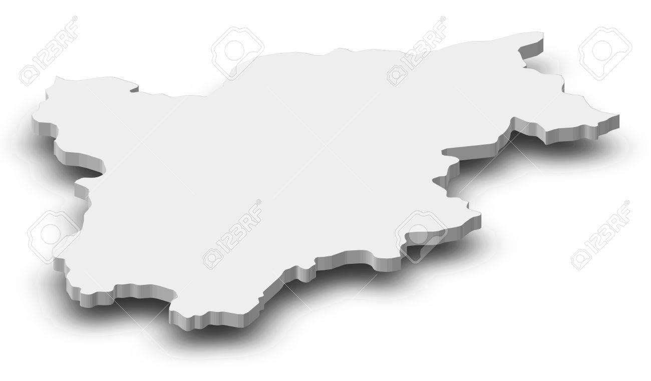 Map Of TrentinoAlto AdigeSdtirol A Province Of Italy As Stock