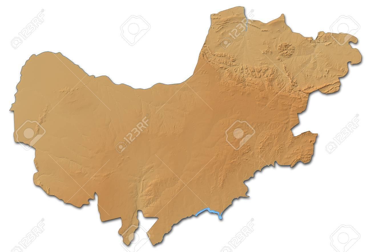 Carte Afrique Du Sud Ouest.Carte En Relief Du Nord Ouest Une Province D Afrique Du Sud Avec