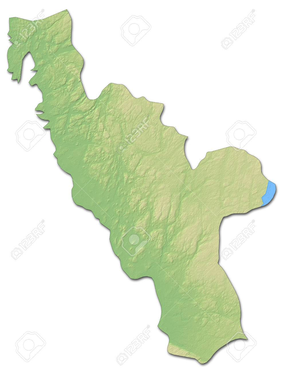 Relief Map Of Halland County A Province Of Sweden With Shaded - Sweden relief map
