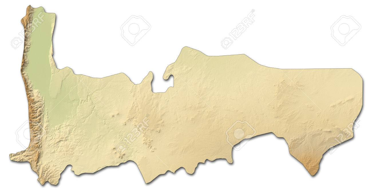 Relief Map Of Hama, A Province Of Syria, With Shaded Relief. Stock ...
