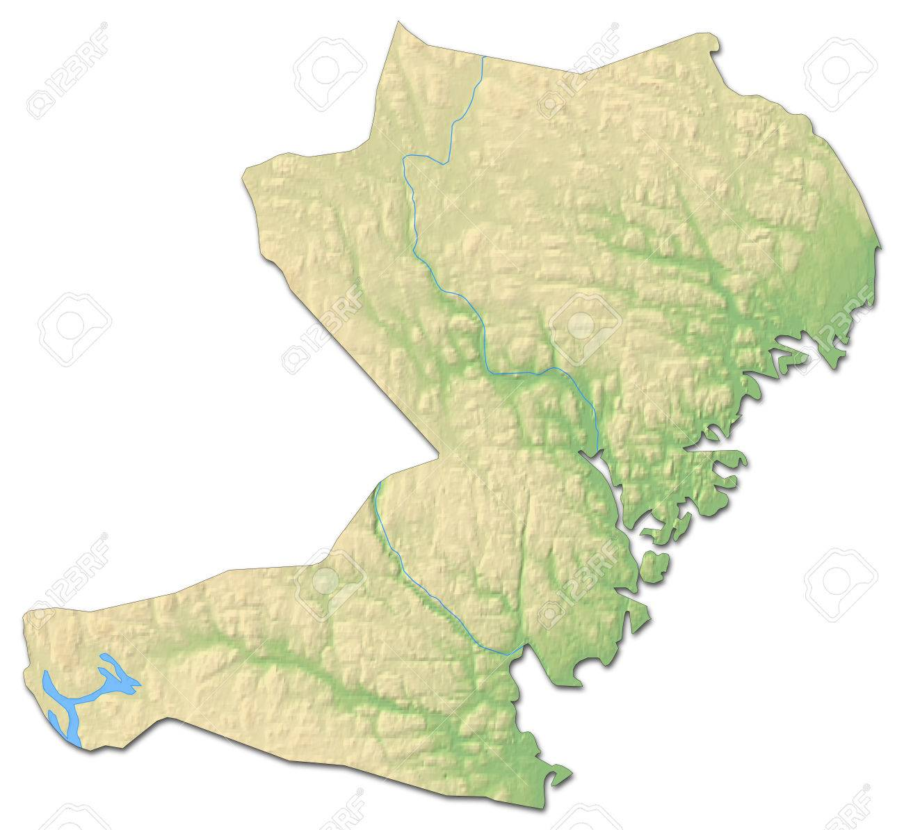 Relief Map Of Vsternorrland County A Province Of Sweden With - Sweden relief map