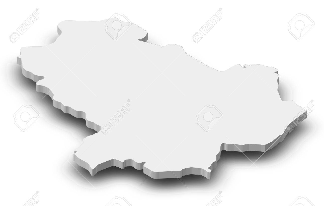 Map Of Basilicata A Province Of Italy As A Gray Piece With Stock