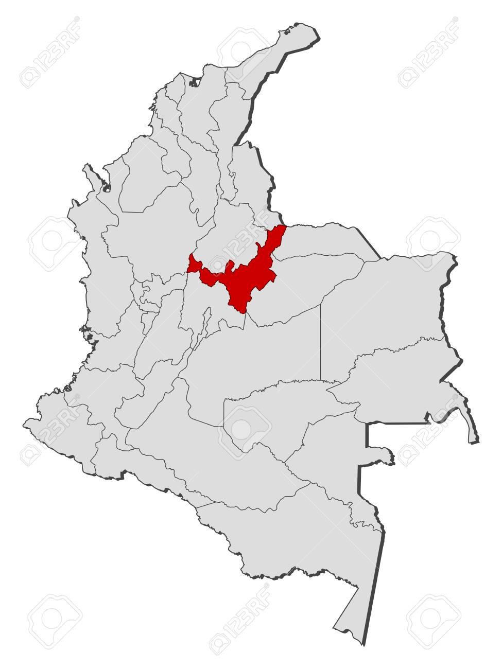 地図地方とコロンビアのボヤカ県...