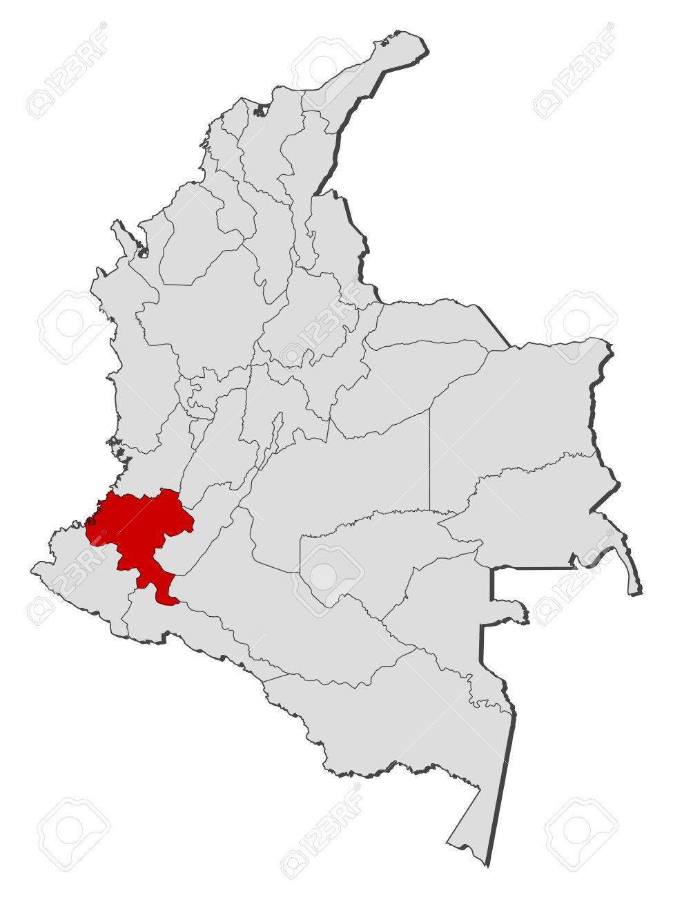 Map of Colombia with the provinces, Cauca is highlighted. Cau Ca Map on cor ca map, phuoc vinh map, ca mau map, con ca map, bat ca map, quang ngai province map, day ca map,