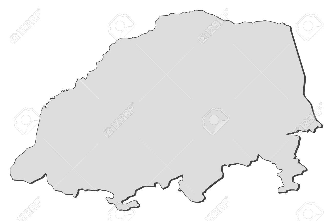 Map Of Limpopo, A Province Of South Africa. Royalty Free Cliparts ...