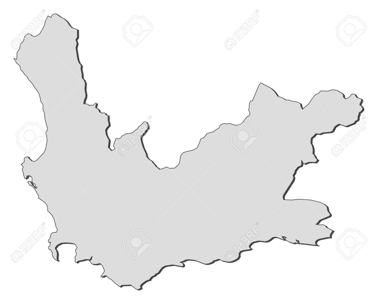 Map Of Western Cape, A Province Of South Africa. Royalty Free ...