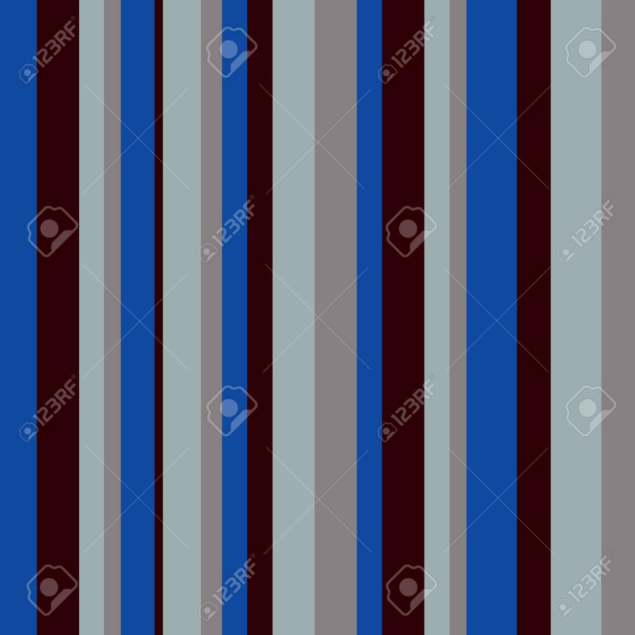 Striped Seamless Pattern Retro Scandinavian Style Vector