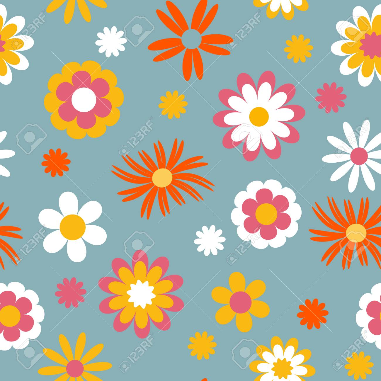 Modelo Inconsutil De Las Flores Infantiles Vector Ideal Para Ropa