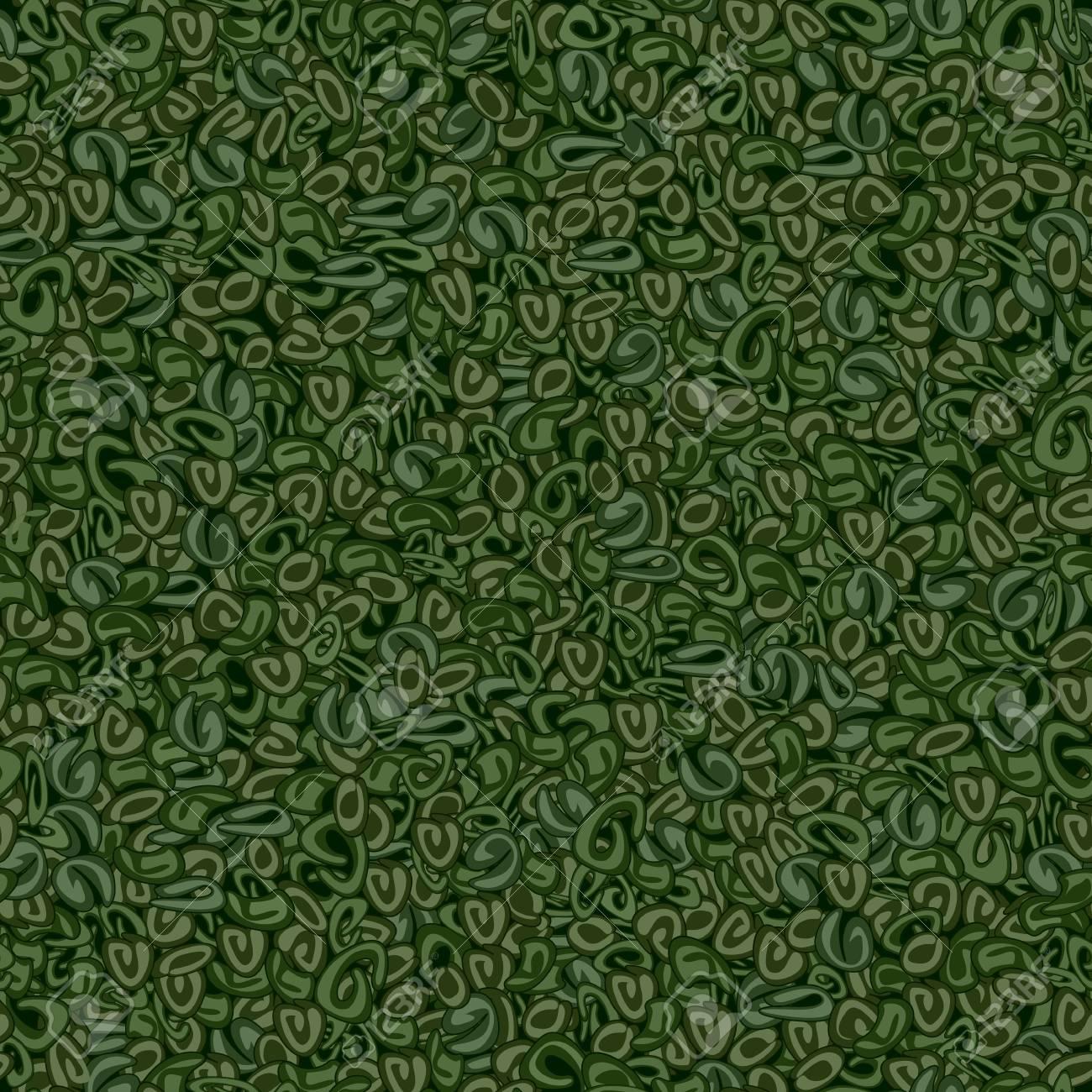Seamless texture of Gunpowder green tea on a dark green background - 94662525
