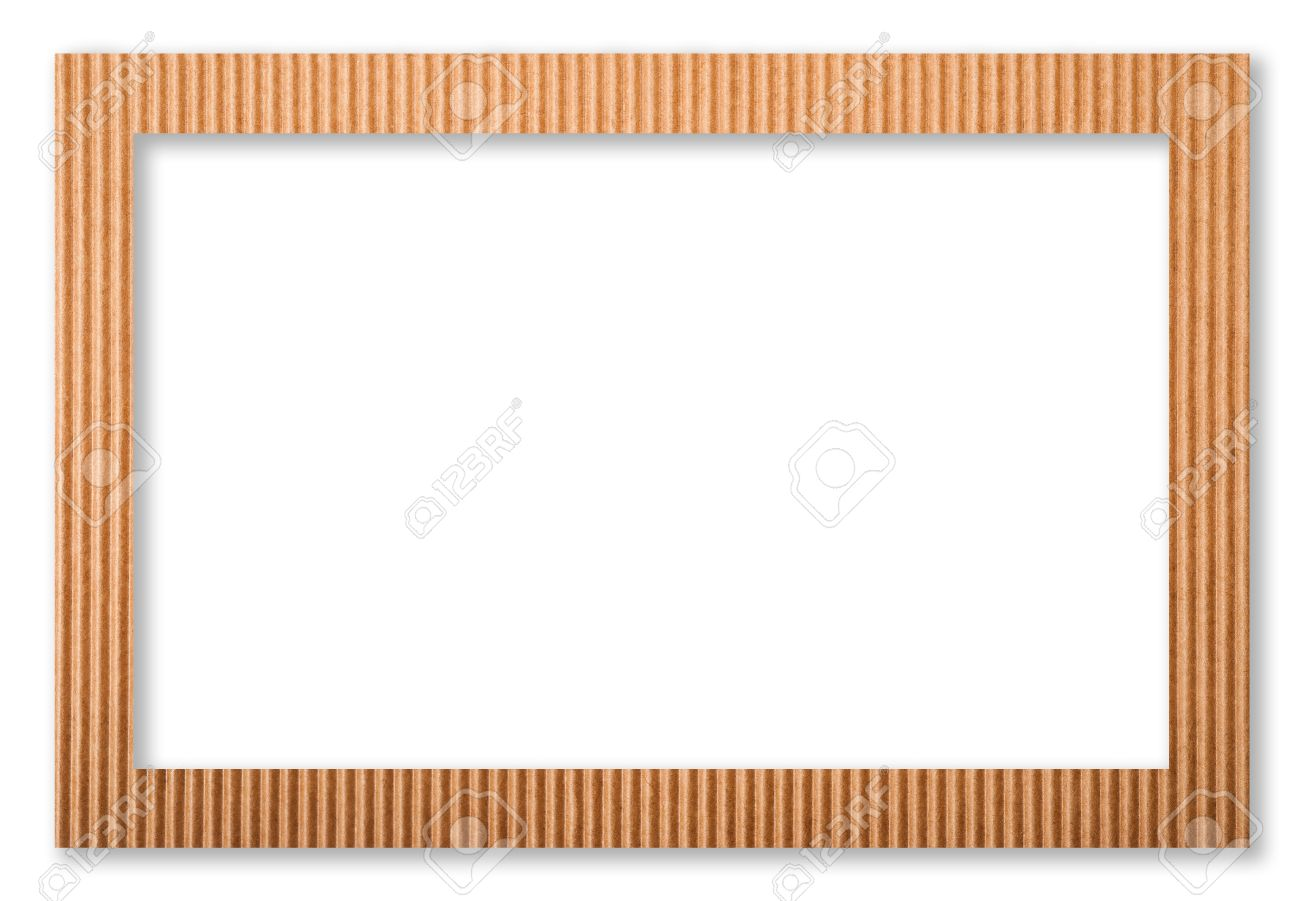 Cardboard Frame Isolated On White Stock Photo, Picture And Royalty ...