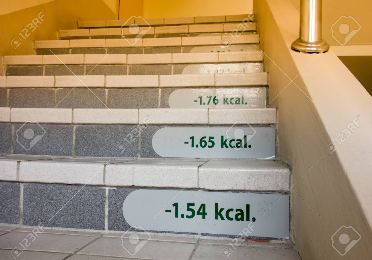 Le Succes Concept De Perte De Poids Par Escalier Avec Etiquette De