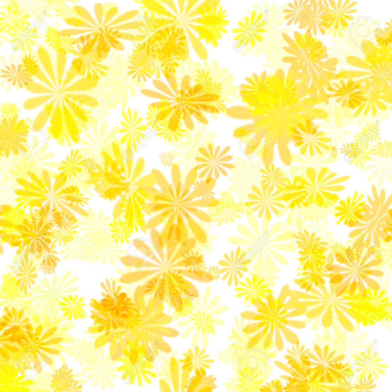 Colorful Abstract Yellow Floral Pattern Girt Wrap Stock Photo ...
