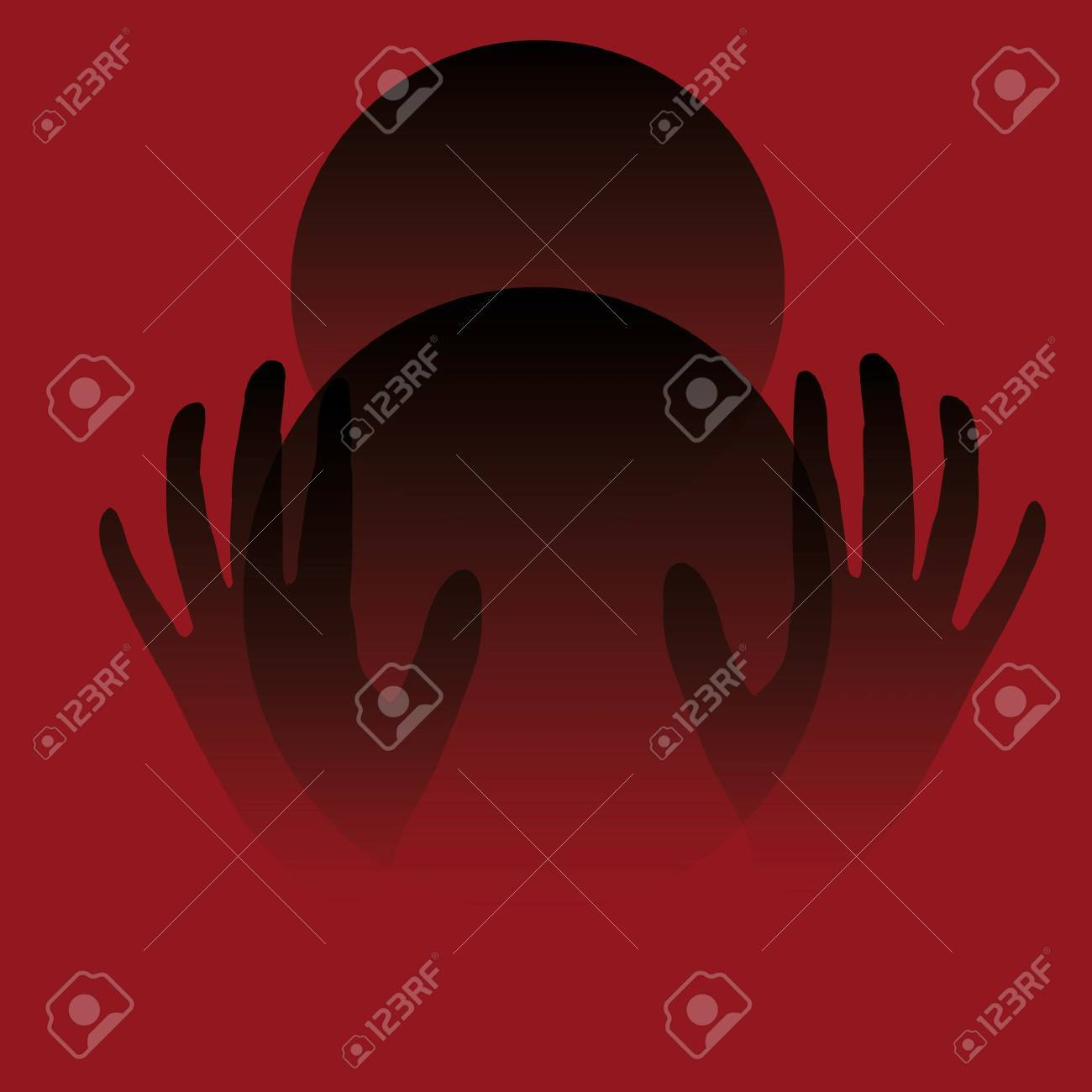 eerie  poster hands and crystal ball Stock Photo - 3482153