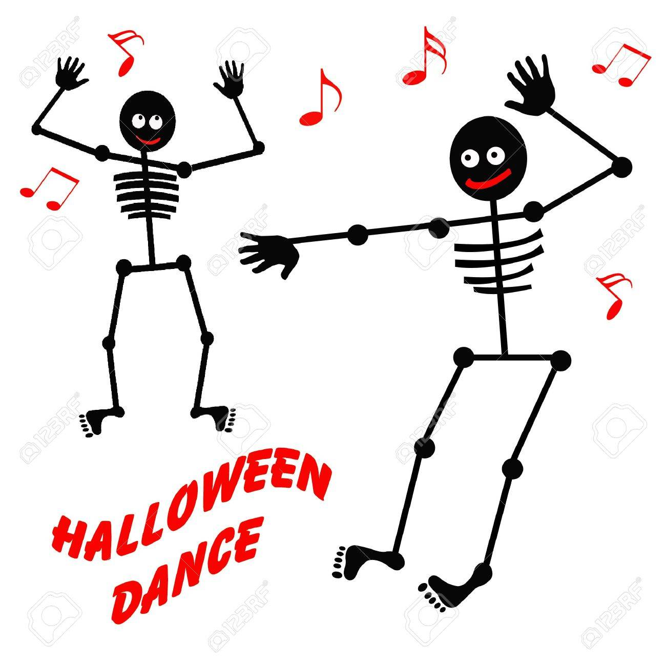 friendly dancing skeleton for halloween black and white stock photo 5187880 - Dancing Halloween