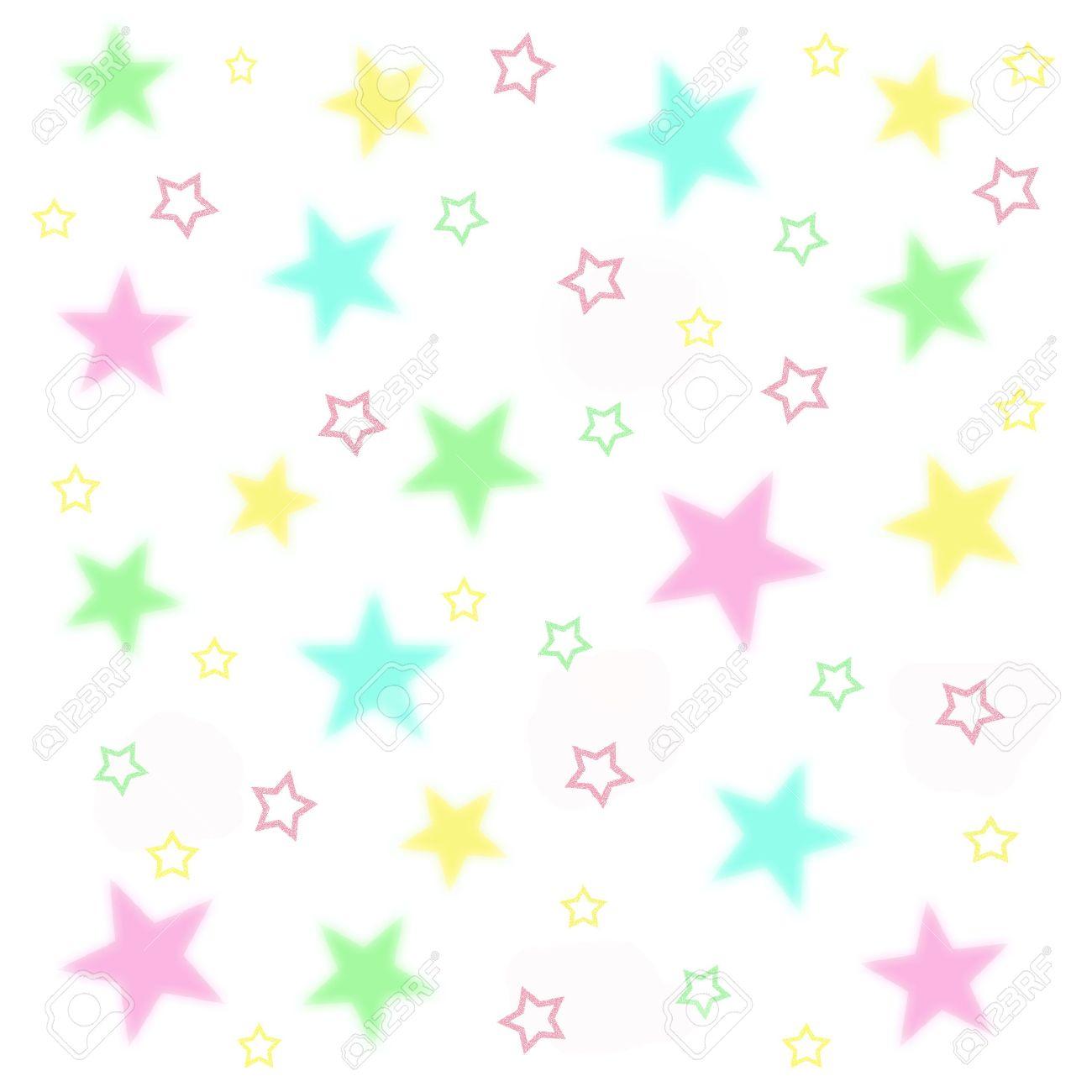 ファジィ赤ちゃん白い背景イラスト星 ロイヤリティーフリーフォト