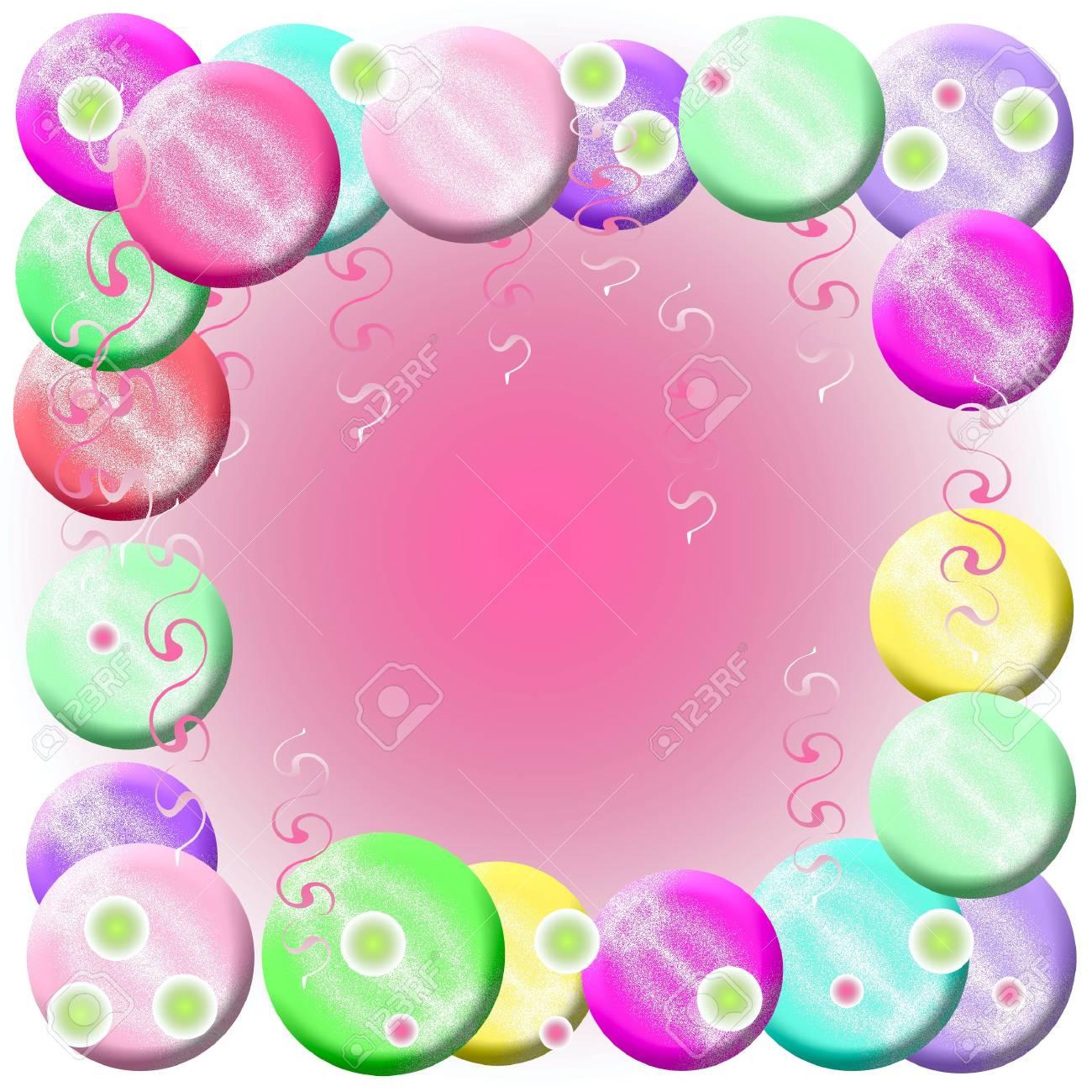 Burbujas Marco De Helada En La Ilustración De Fondo Sólido Fotos ...