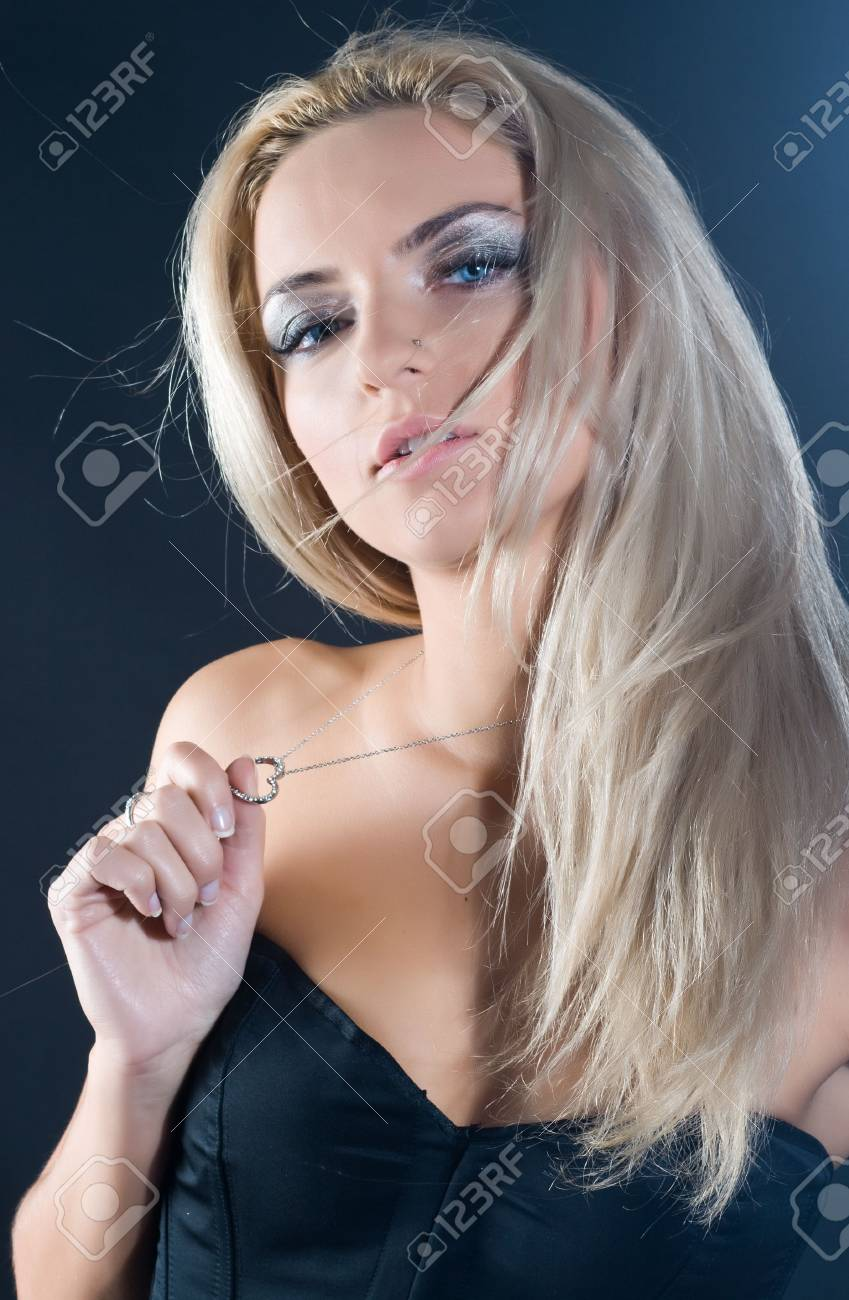 Portrait of beautiful blond sexy woman with long hair Stock Photo - 6462771