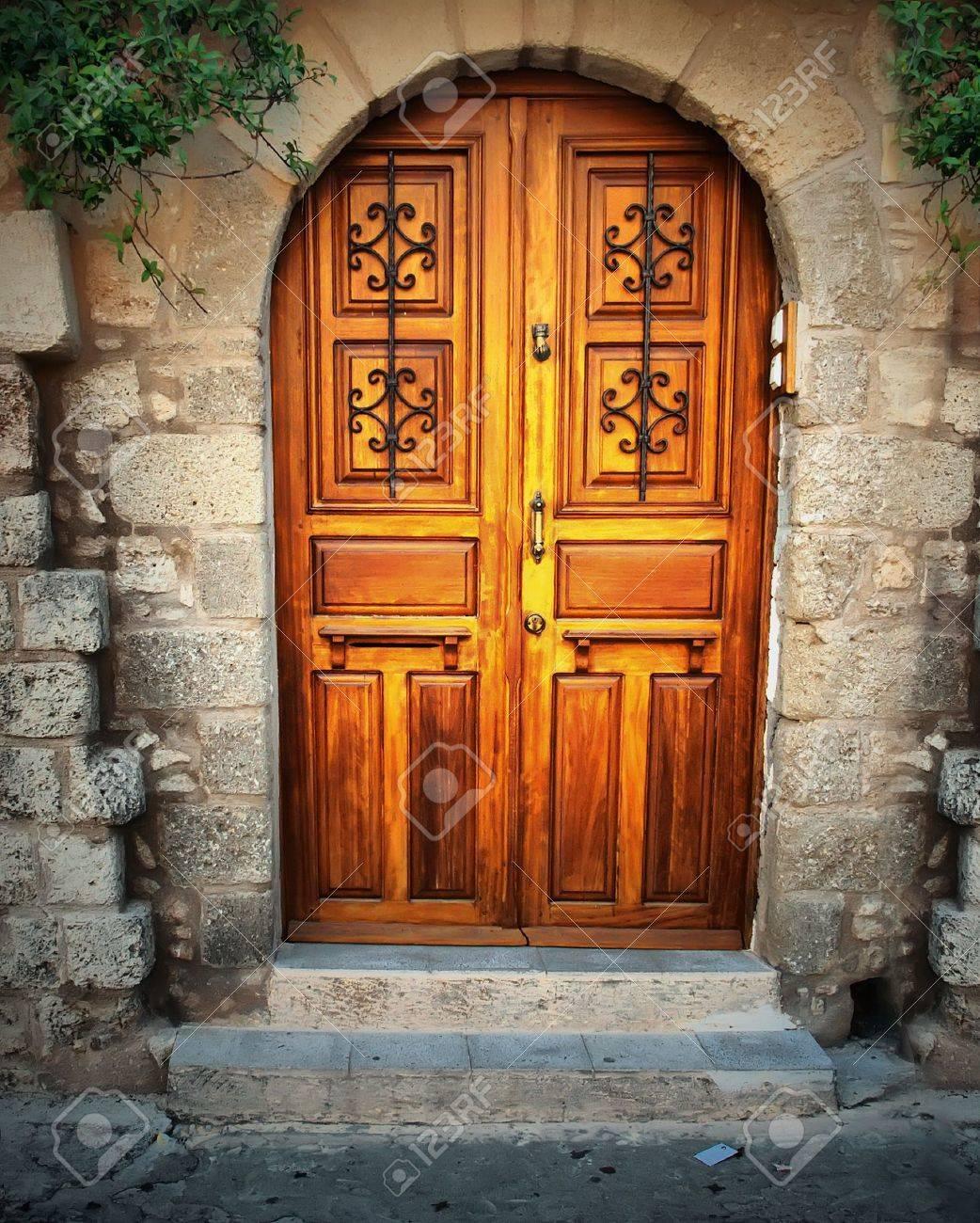 Ancient door in Rhodes island, Greece Stock Photo - 8781989
