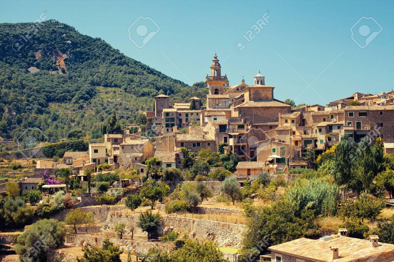 View of Valldemossa village, Mallorca, Balearic island, Spain - 23032451