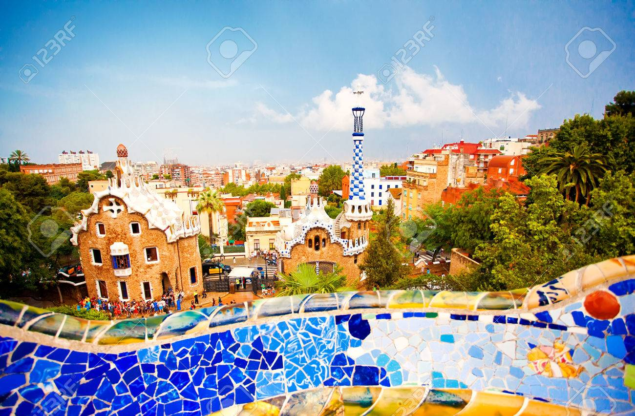 Park Guell in Barcelona, Spain - 39702578