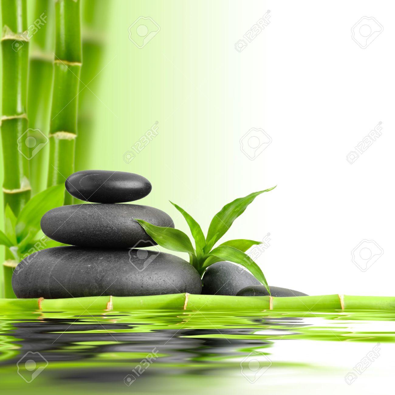 zen piedras de basalto y bamb foto de archivo 16310671 - Piedras Zen