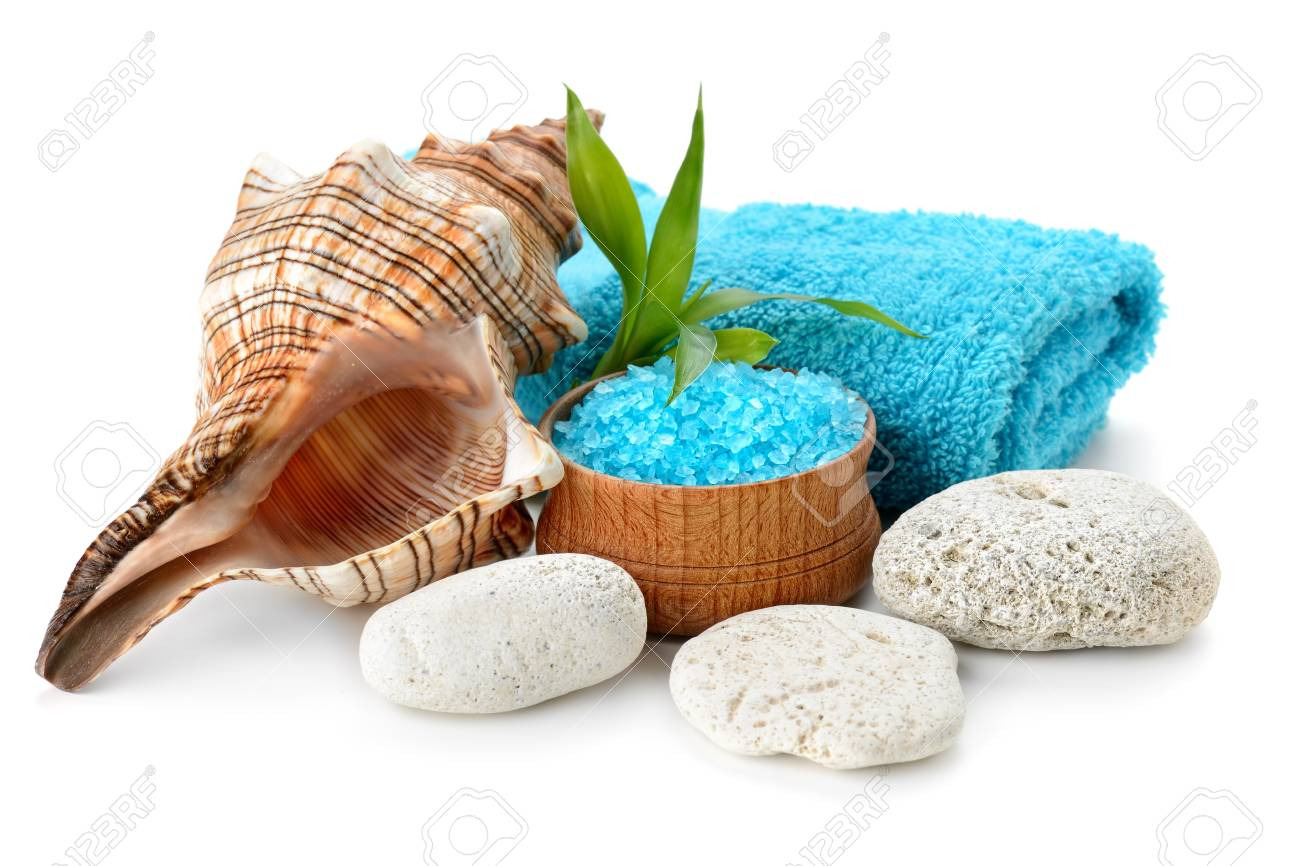 spa composition with soap and toning sea crystals Stock Photo - 17121487