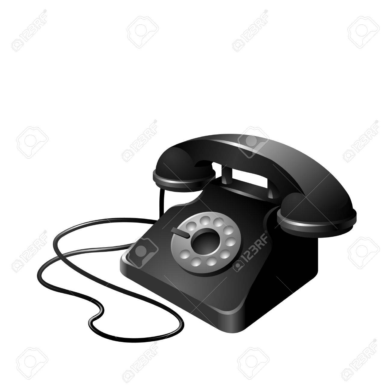 clean and simplistic vector illustration of a telephone set Stock Vector - 10121591