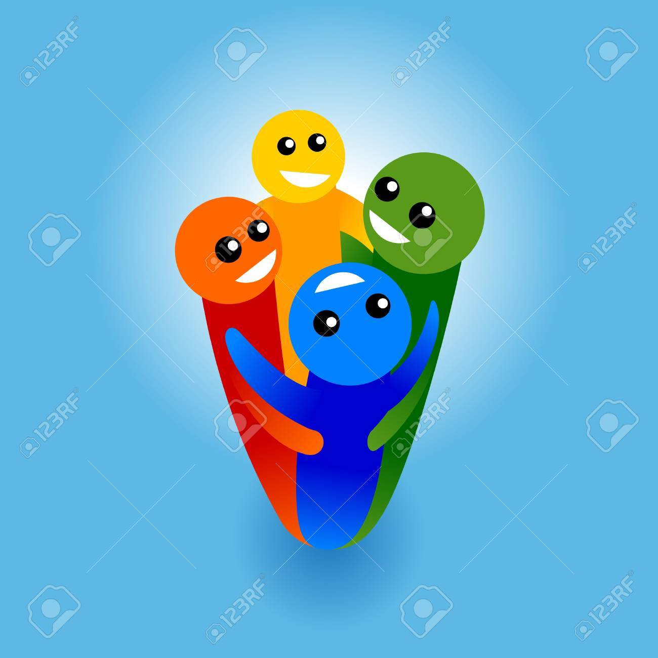 colorful community design element Stock Vector - 10121829