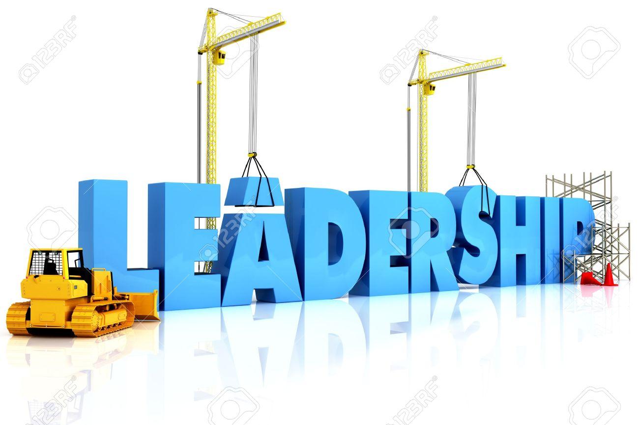 Building Leadership, building LEADERSHIP word, representing business development. Stock Photo - 10750132