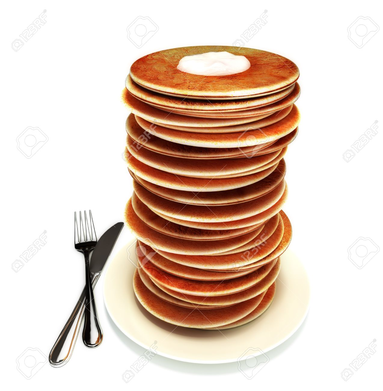 Large stack of pancakes Stock Photo - 10750152