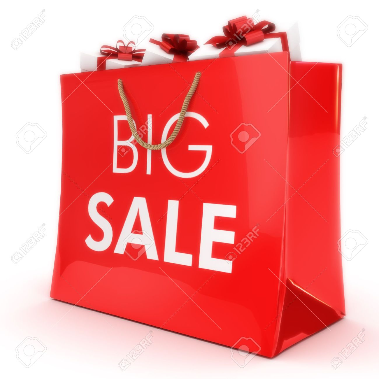 Big Sale ,gift Bag With Gifts, Part Of A Series Stock Photo ...