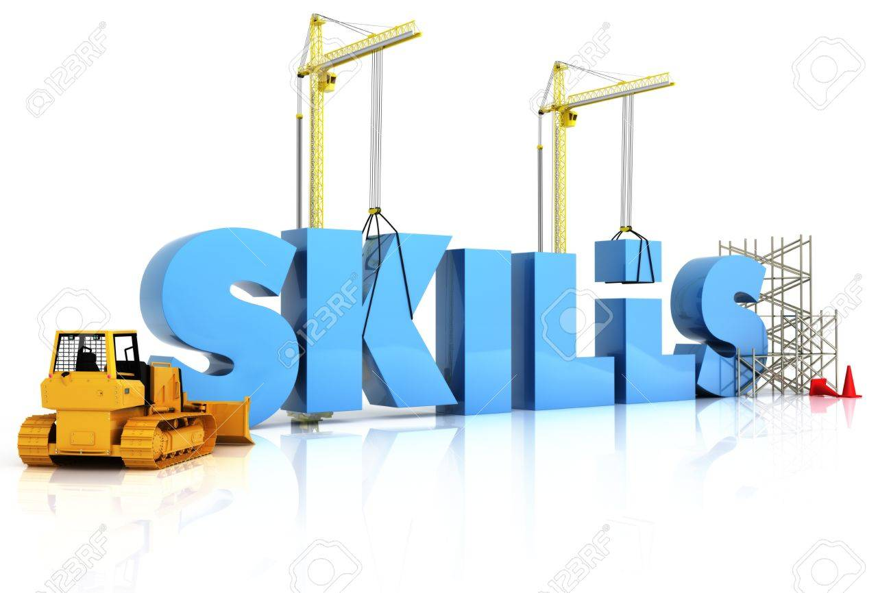 building skills concept skills word representing development building skills concept skills word representing development in sports recreation or work