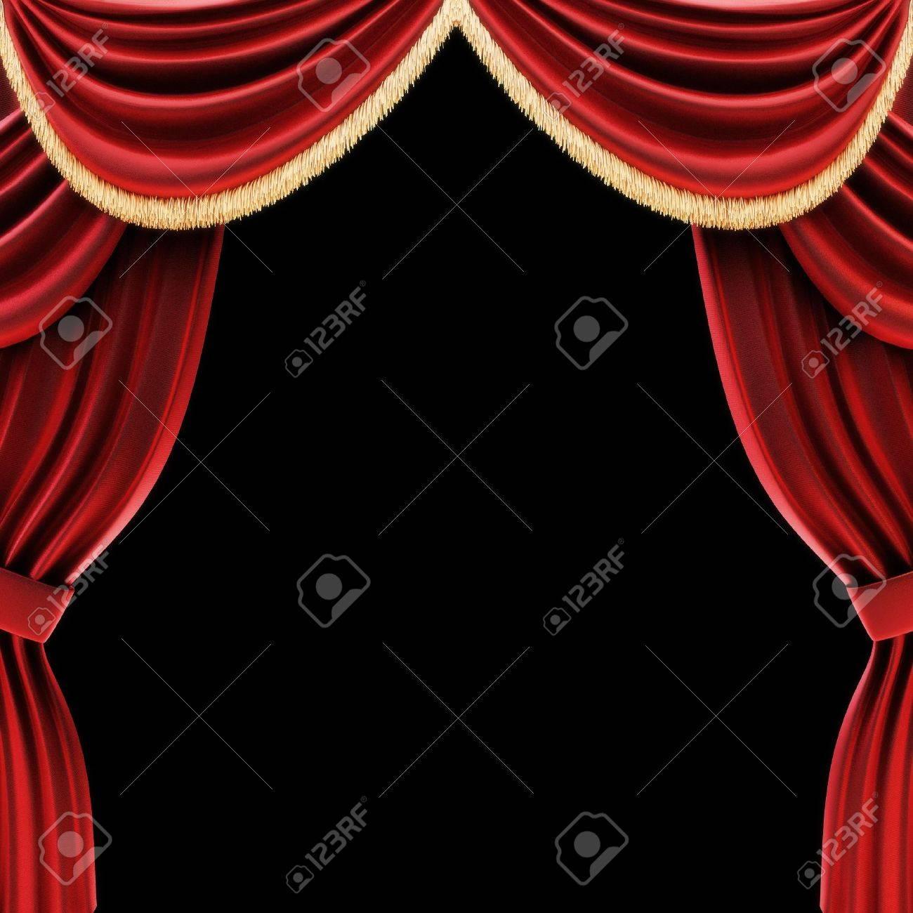 Ouvrez Les Rideaux De Théâtre Ou Rideaux De Scène Avec Un Fond Noir ...
