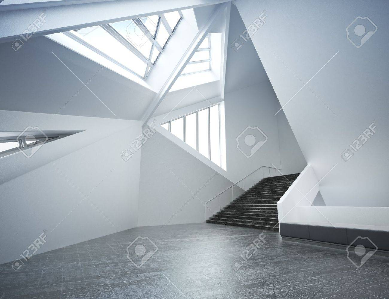 Modern New Interior Empty Room Apartment Or Office Business Stock Photo Picture And Royalty Free Image Image 17982857