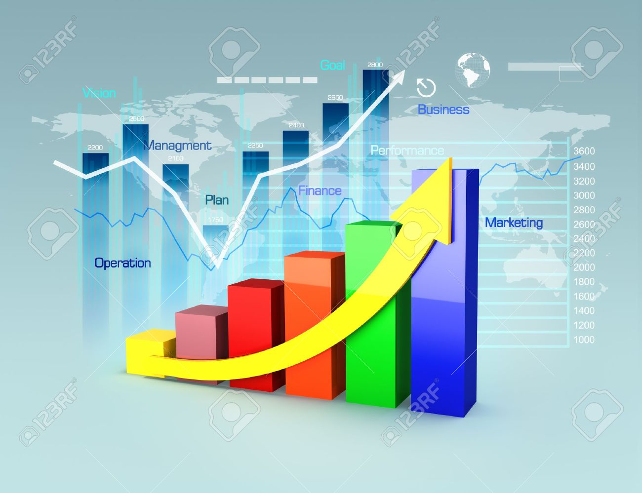business plan with graphs and charts business growth and finance