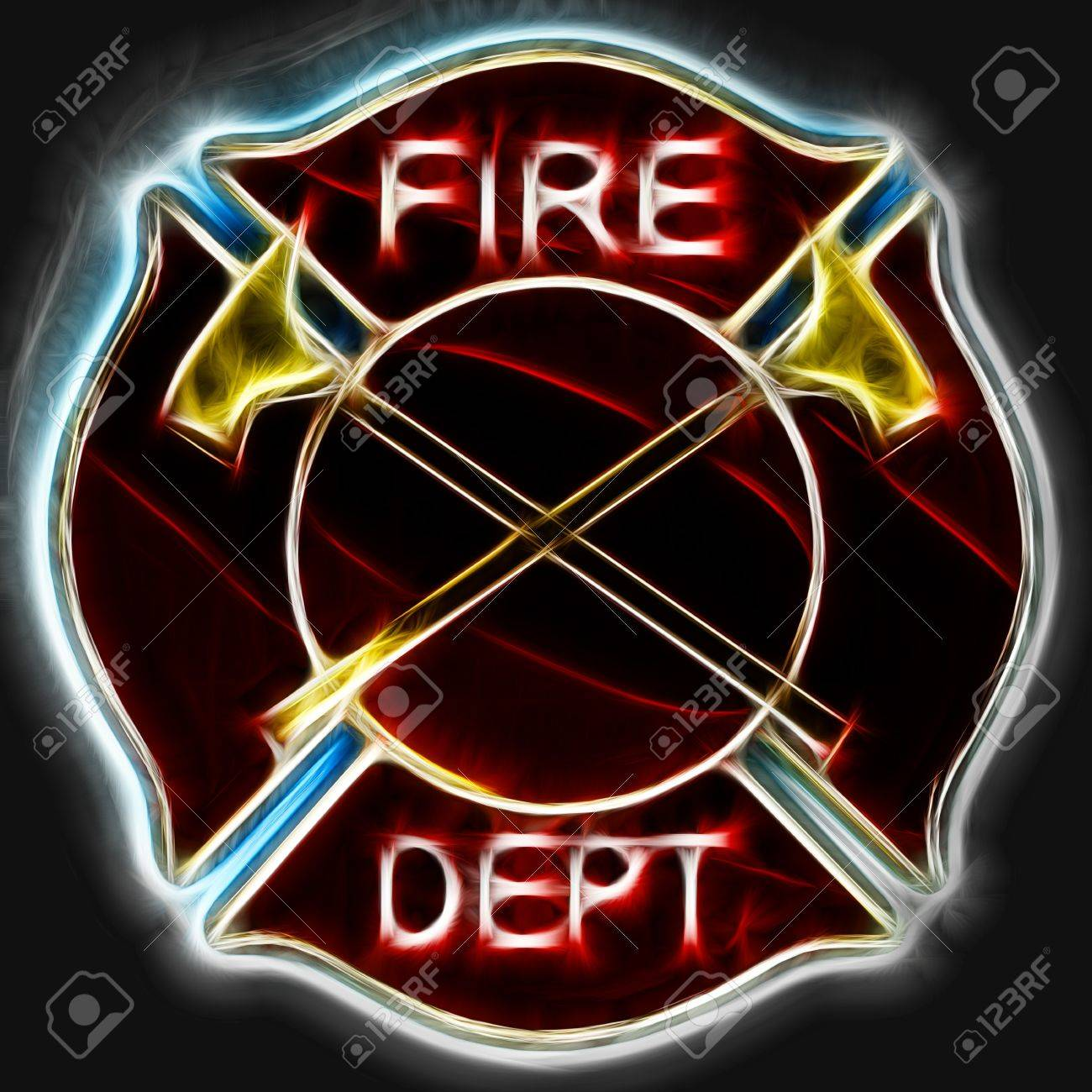 Abstract fractal fire department maltese cross badge or symbol abstract fractal fire department maltese cross badge or symbol with axes stock photo 20940807 biocorpaavc