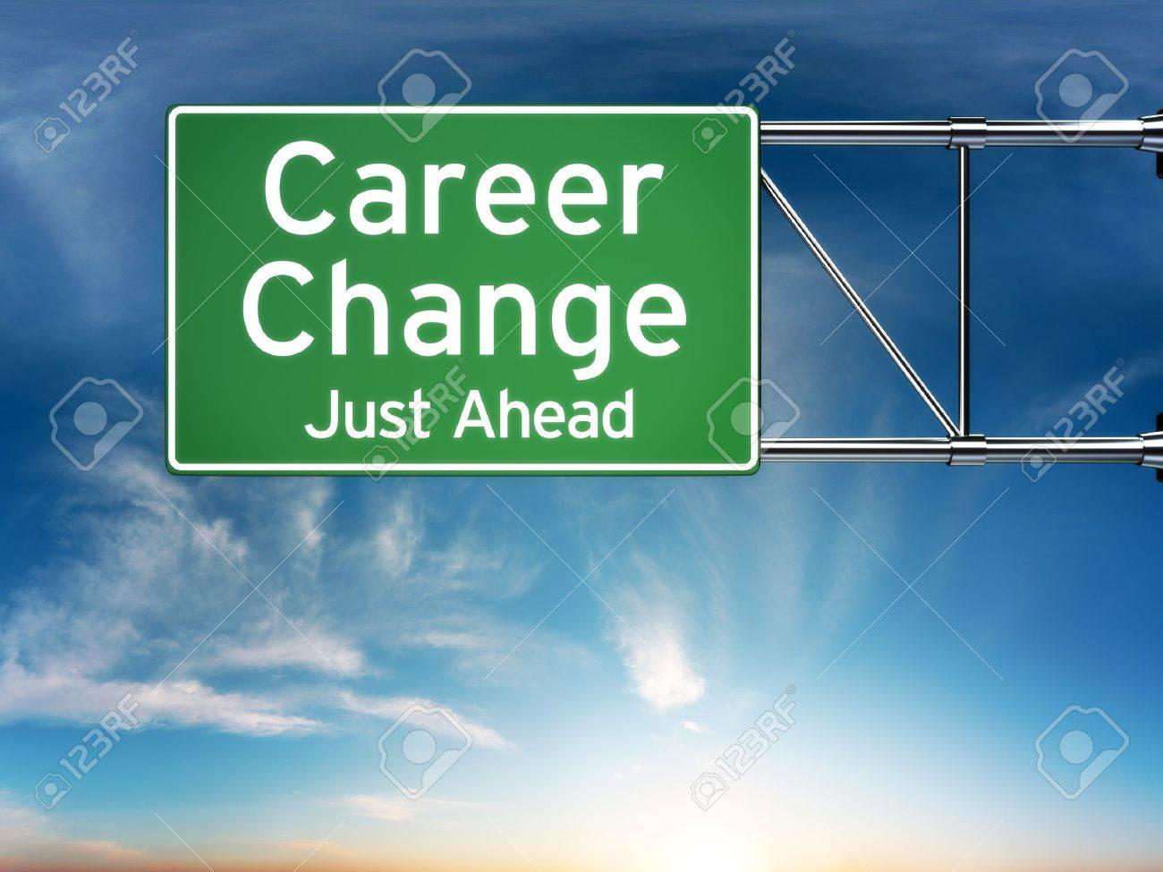 career change just ahead concept depicting a new choice in job career change just ahead concept depicting a new choice in job career stock photo 22013747