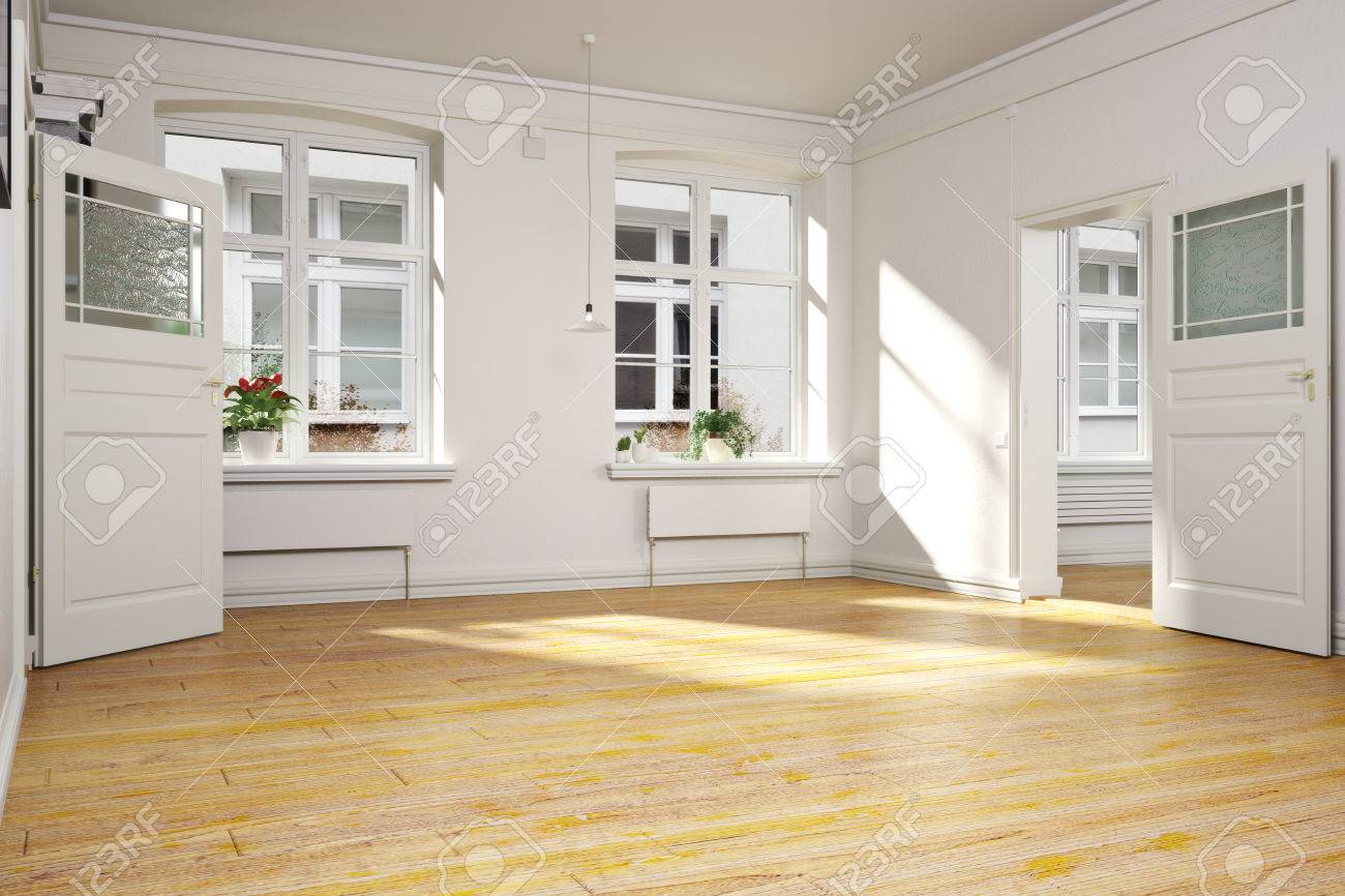 Traditional Empty Interior Of An Apartment Or Home. Stock Photo ...