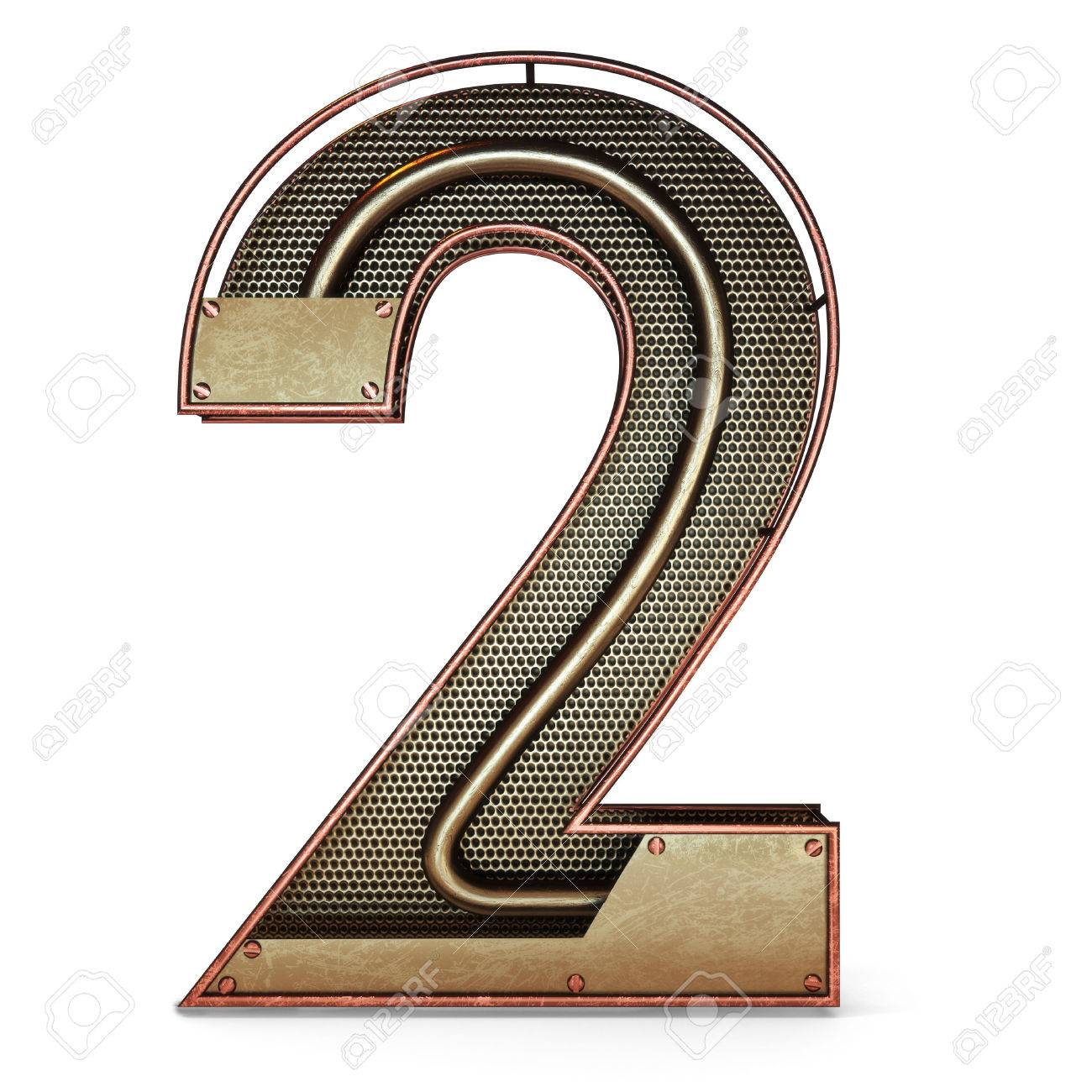 3d number two 2 symbol with rustic gold metal mesh tubes with 3d number two 2 symbol with rustic gold metal mesh tubes with copper and buycottarizona Image collections