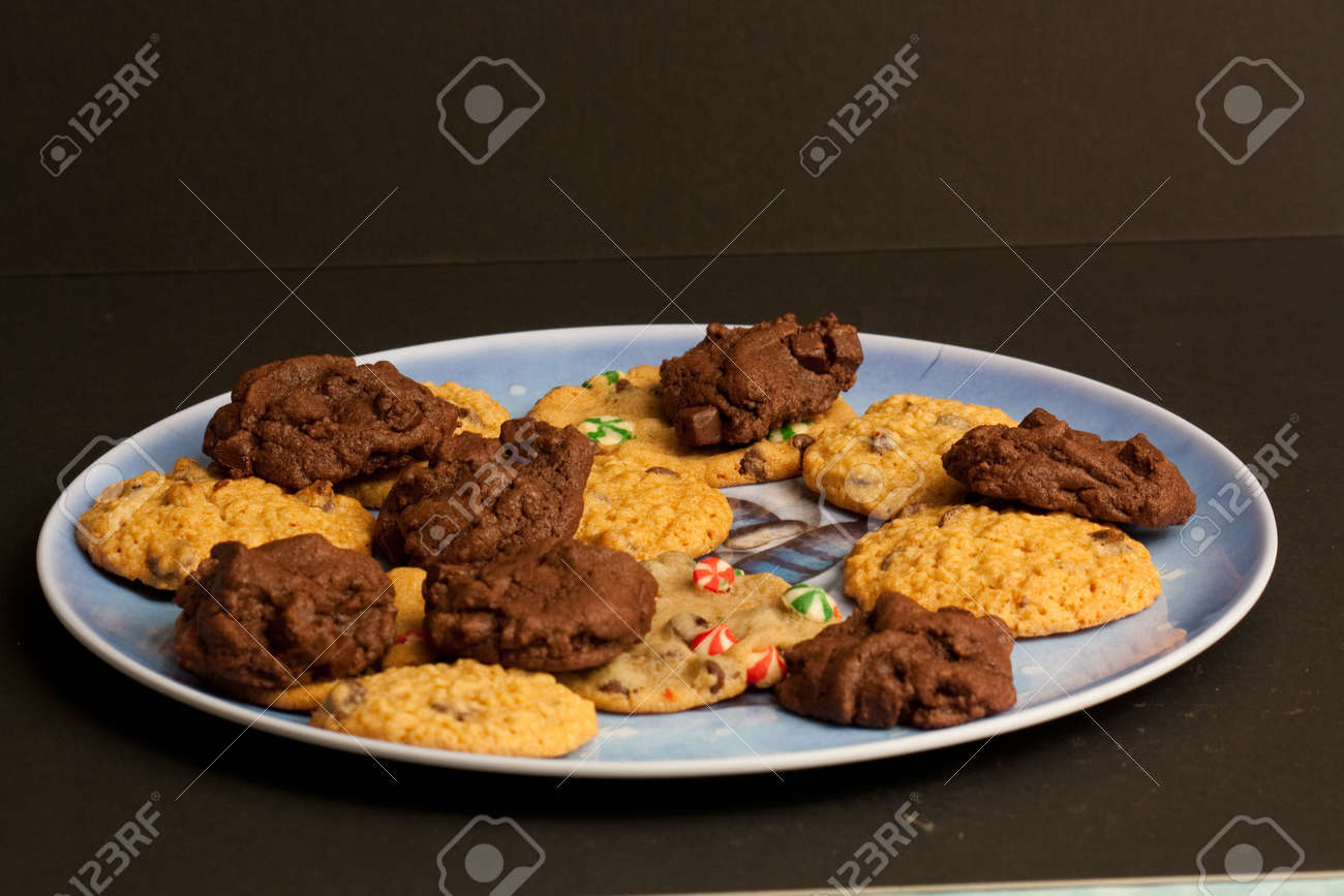 A Plate Of Different Types Of Christmas Cookies