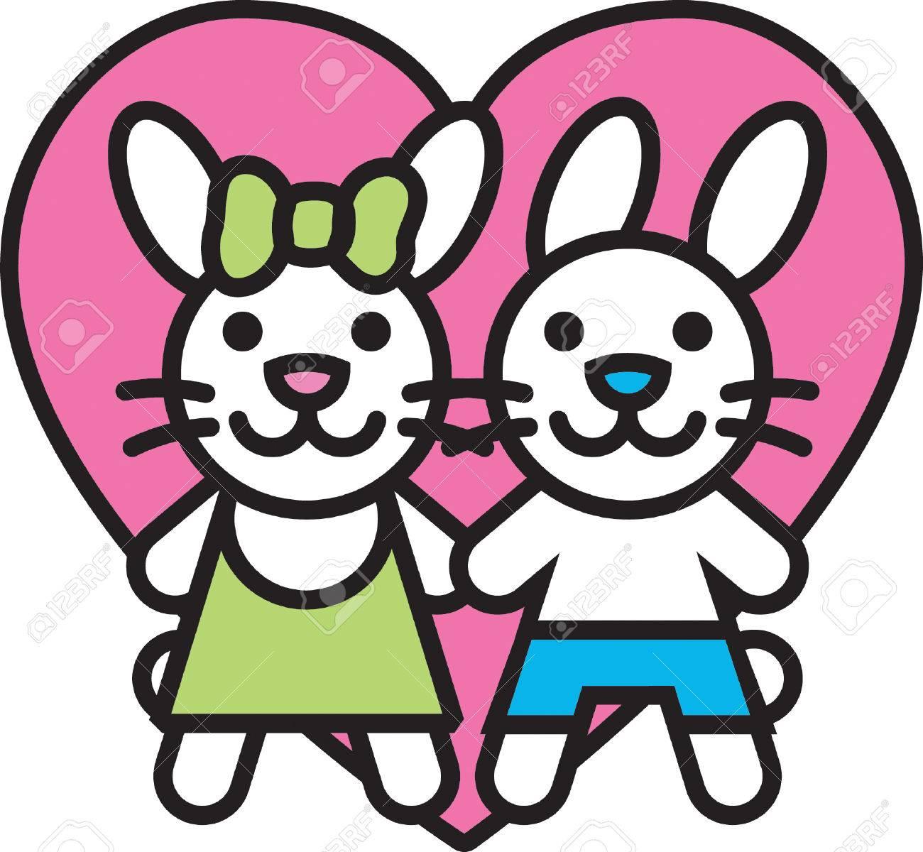 Bunny Love Stock Vector - 23965476