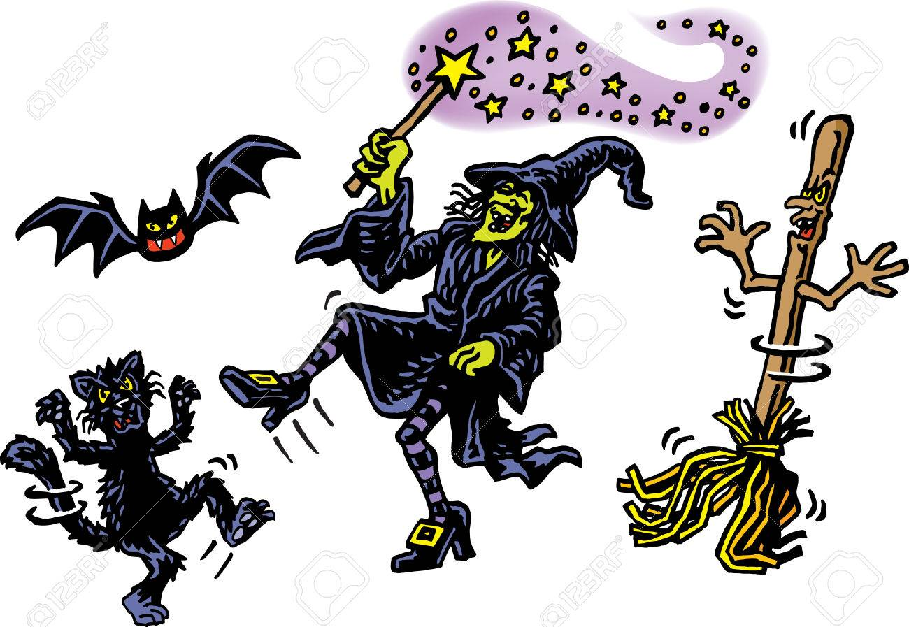 Witch and Friends Stock Vector - 24305930