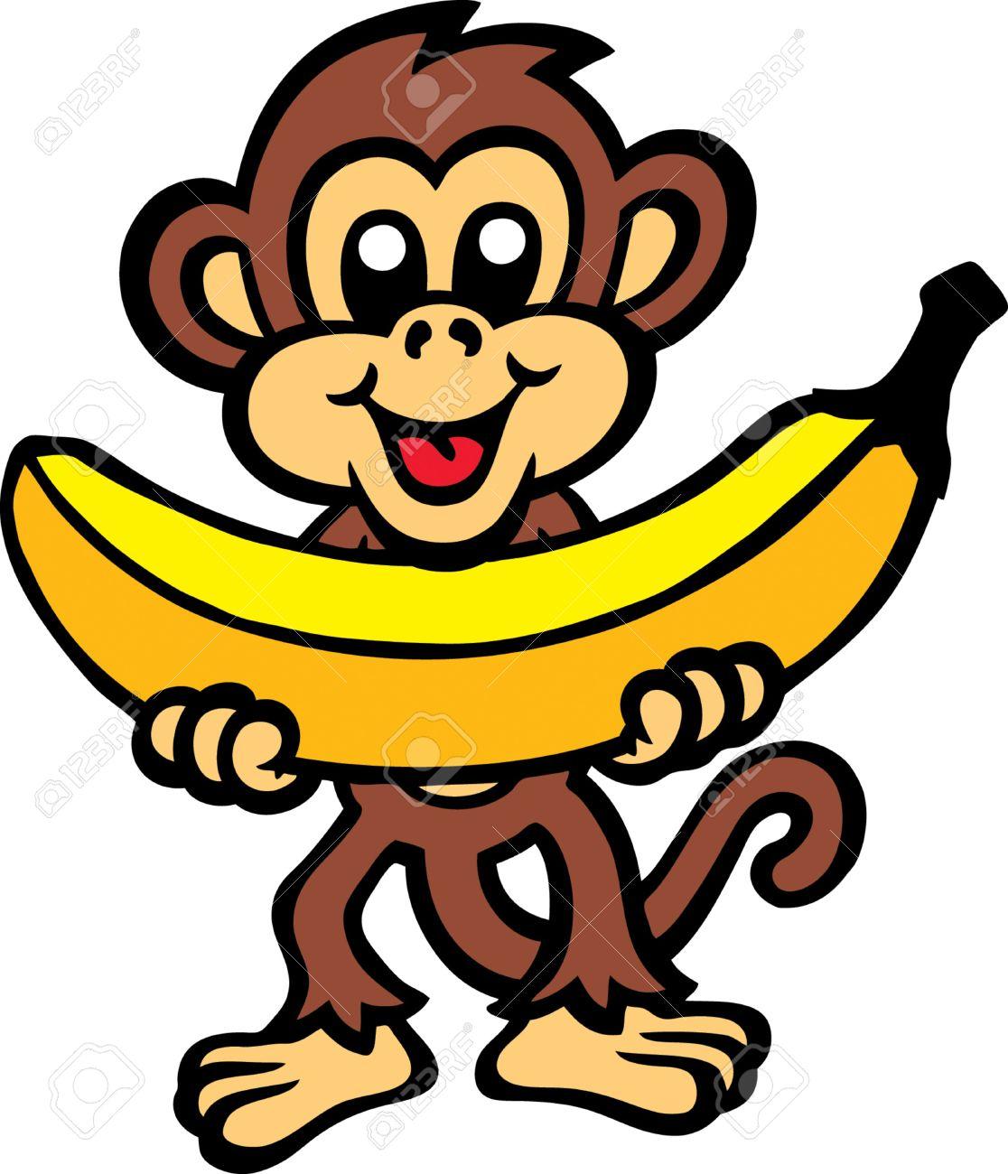 monkey banana rh 123rf com  free clipart monkey eating banana
