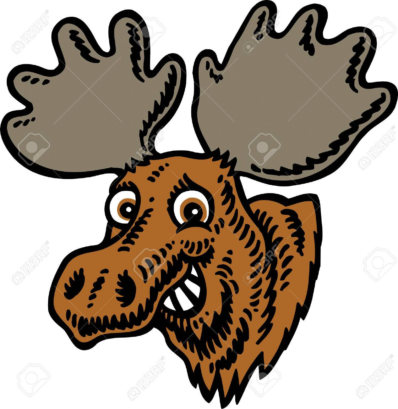 moose head royalty free cliparts vectors and stock illustration