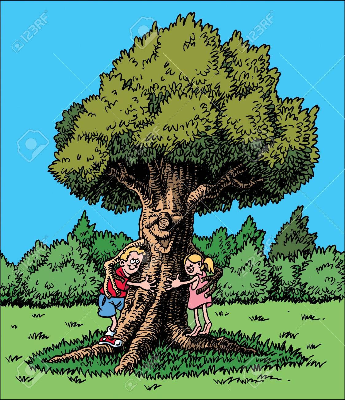 Tree Hugger Royalty Free Cliparts Vectors And Stock Illustration