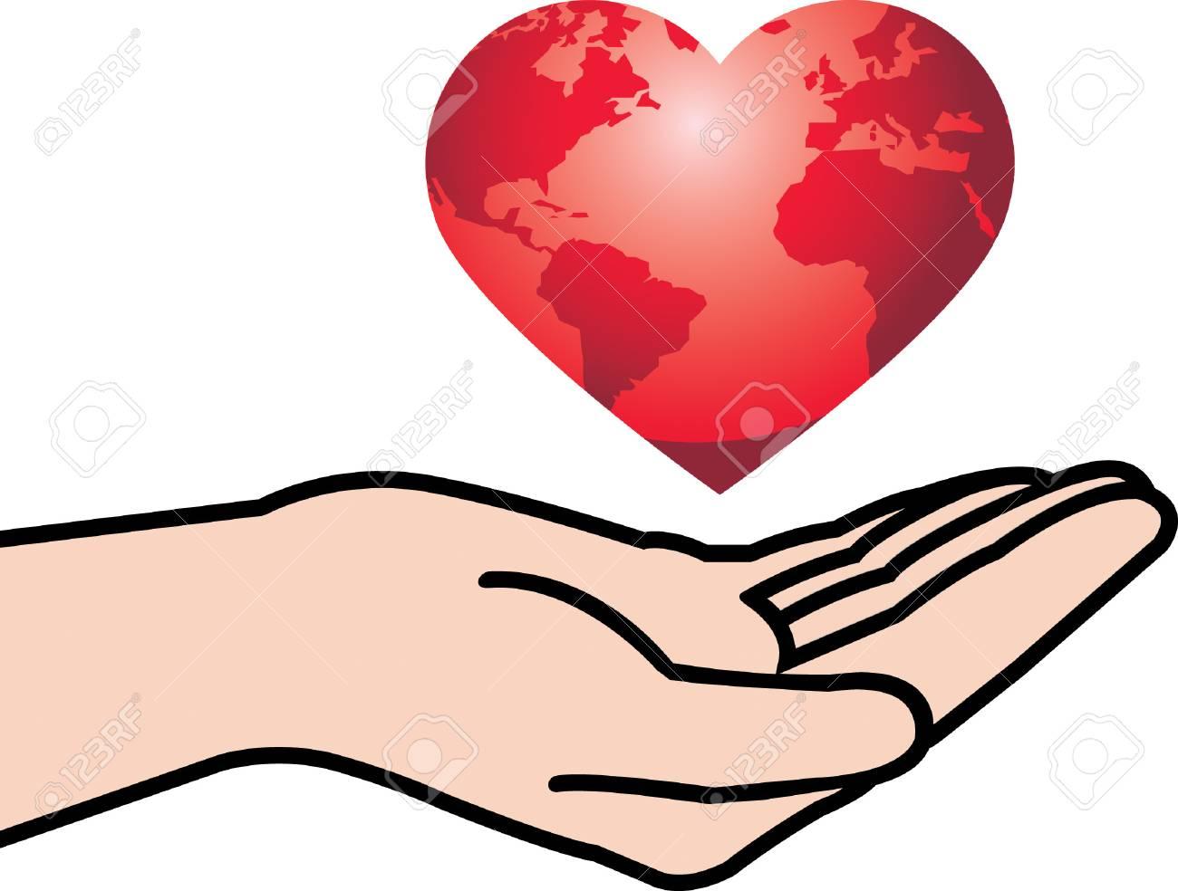 Hand Heart Stock Vector - 24769636