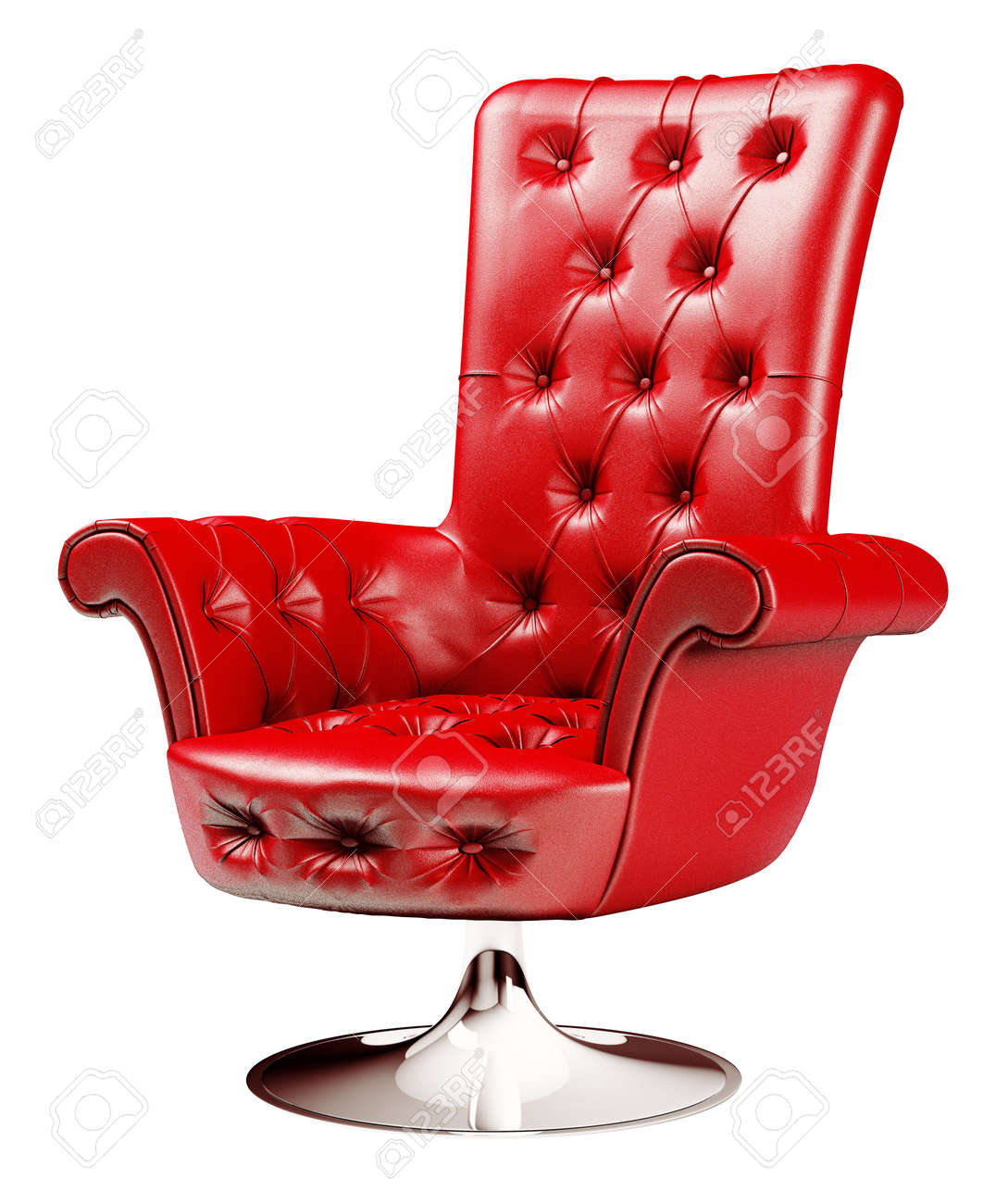 Red office chair isolated over white Stock Photo - 5891115