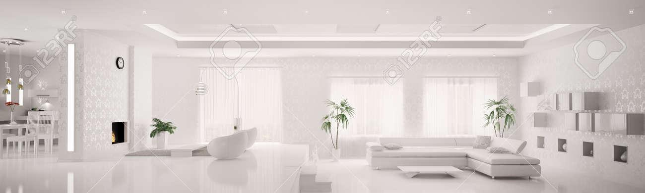 Intérieur De La Maison Blanche De La Vie En Appartement Chambre ...